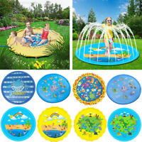 """67"""" Sprinkler Play Mat Pad Center Toddler Kids Pool Water Toy Outdoor Fun Ring"""
