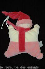 Doudou Hochet Poupée Babicorolle Toudoux Cassis Corolle rose avec bonnet 22 cm