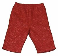 JACADI Girl's Action Coral Elastic Waist Floral Pants Size 18 Months $43 NWT