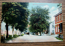 PERKIOMENVILLE PA - MAIN STREET - OLD POSTCARD - HUNSBERGER