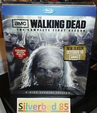 THE WALKING DEAD Complete First 1 Season 3-Disc Set Blu-ray w/ Cryptozoic Card