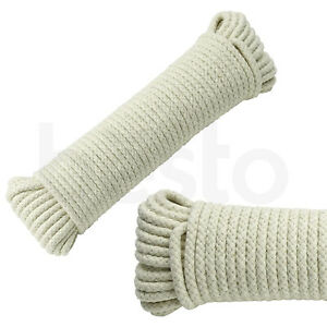 Traditional Strong Cotton Rope Washing Clothes Dryer Line Twine Hank Polley Jute