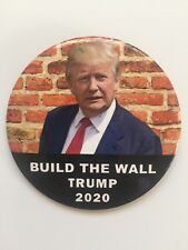 "2020 Re-Elect President Donald Trump 3"" Button Build The Wall Border Security"