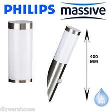 PHILIPS MASSIVE UTRECHT PIR SENSOR STAINLESS STEEL EFFECT WALL LIGHT 400MM