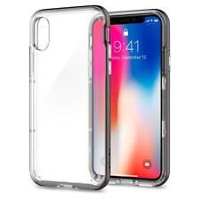 Spigen Neo Hybrid Crystal Bumper Case for iPhone X - Gunmetal