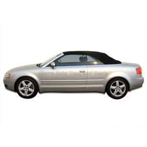 Audi A4 2003-09 Convertible Soft Top, w/ Glass Window, Stayfast Cloth, Black