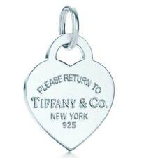 Tiffany & Co Return Sterling Silver MEDIUM Heart Tag Pendant RRP $180