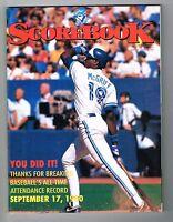 1990 Toronto Blue Jays MLB Baseball PROGRAM
