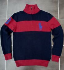 POLO RALPH LAUREN NAVY BLUE & RED LARGE PONY LOGO JUMPER SIZE L 12-14 YEARS