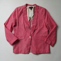 NWT J.Crew Unstructured Blazer in Firecracker Red Cotton-Linen Jacket 14 $168
