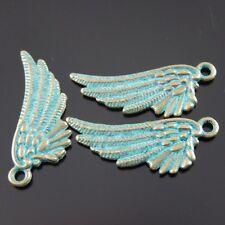 30 Stück Antike Art Bronze Schön Flügel Charms Dangles Anhänger 30x11x2mm 39018