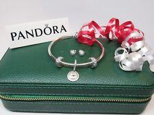 Pandora Love You Forever Holiday Gift Set 19 CM  Bangle 3 charms Earrings +GIFT