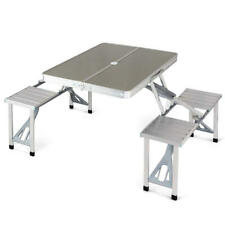 Moustache® Aluminum Foldable Picnic Table with 4 Seats