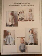 Pattern/livre tricot poupée Gotz 50 cm Hannah