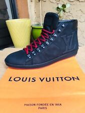 AUTH LOUIS VUITTON MENS SHOES SNEAKERS LV INITIALES US SIZE 10.5 MADE IN ITALY