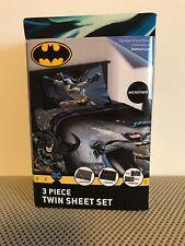 NEW DC Comics Batman 3 Piece Twin Sheet Set Microfiber Bedding