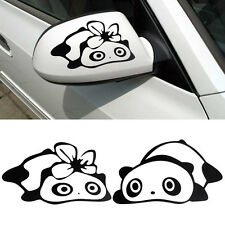 Fashion Panda Design 3D Decoration Sticker For Car Side Mirror Rearview Black