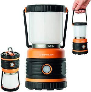 Dunlop Camping Lampe Laterne 1000 Lumen LED Dimmbar 4 Leuchtmodi - Neues Modell