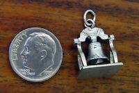 Vintage silver LIBERTY BELL PHILADELPHIA FIRST MANS CLUB 1976 3D BRACELET charm