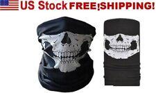 WHITE.Motorcycle, Face Mask Ski Headband! Free Shipping! U.S.A. SELLER!
