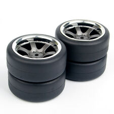 12mm Hex RC 1:10 Flat Drift Tires Wheel Rim 4Pcs For HSP On-Road Car PP0038/338