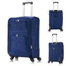Koffer Trolley Weichgepäck Reisekoffer Stoff Handgepäck Blau M RK4214bl-M