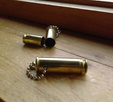 REAL BULLET CASING STASH KEYCHAINS ~ PILL HOLDER