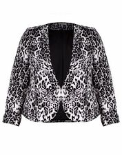 Autograph Black grey Lined Blazer coat jacket 24 cardi cardigan NEW clip front