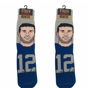 Freak Feet NFLPA Andrew Luck #12 Indianapolis Colts Socks Freaker USA New 2 Pair