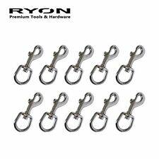 "10PCS 3/4"" 19mm Swivel Clip Eye Snap Hook Dog Chain Clip Chrome-Plated 72mm Long"