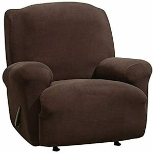 SureFit Stretch Recliner Chair Cover ONE Piece/Pocket Machine Wash CHOCOLATE