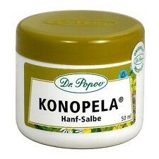 """Hanf Salbe """"Konopela®"""" atopischen, Natur Originalkräutersalbe des Dr. Popov 50ml"""