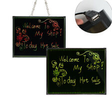 110V Flashing Illuminated Erasable Neon LED Message Menu Sign Writing Board