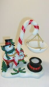 Yankee Candle Hanging Snowman Candy cane Hanging Tart Warmer Wax Burner