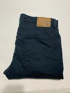 American Eagle Mens Dk Blue/navy Jeans 36x32 Slim Straight Barely Worn