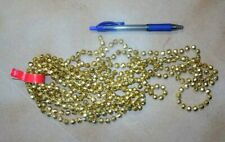 Beads Gold Faceted 15 feet  6 mm diameter Decoration Costuming