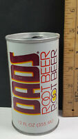 Dads Draft Root Beer Can Flat Pull Tab Top Chicago 7-Up 7UP Words Only Rare Vtg
