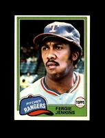 1981 Topps Baseball #158 Fergie Jenkins (Rangers) NM-MT