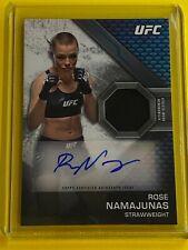 ** 2020 UFC Knockout ROSE NAMAJUNAS Autographed Relic #52/80 **