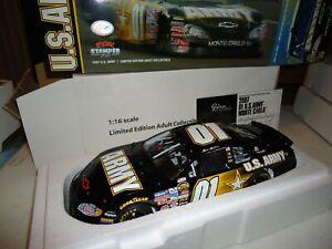 MARK MARTIN 1/16 SCALE MILESTONE #01 ARMY CHEVY MONTE CARLO NASCAR BOXED 282/800