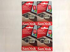 PENDRIVE SANDISK CRUZER FIT 8/16/32/64GB USB2.0 FORMATO NANO NEGRA