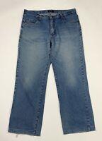 Mc joy jeans uomo usato gamba dritta W40 tg 54 work denim blu boyfriend T6724