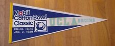1989 Ucla Bruins Cotton Bowl Game Day Full Size Pennant Unsold Stock Discount Aa
