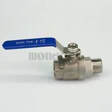"3/4"" Bsp Female to Male Ss304 2-Piece Full Port Ball Valve water steam 358 Psi"