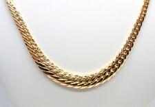 Collana lunga cm.45 larga max 7mm. maglia cobra in oro giallo 18 kt. (750)
