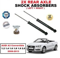 REAR SHOCK ABSORBERS for AUDI A3 Convertible 1.2 1.4 1.6 1.8 1.9 2.0 2008-2013