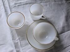 Arcopal  3 CUPS and 1 SAUCER   French Vintage