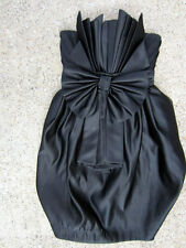 MNG BY ZUHAIR MURAD LIMITED EDITION STRAPLESS BOW SHORT BLACK DRESS 4/Small (US)