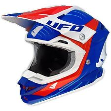 Taglia M - Casco UFO Mx Helmet Interceptor Oblivion Blu Rosso Cross Enduro DH