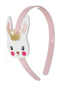 Easter Bunny With Crown Girls Pink Headband New